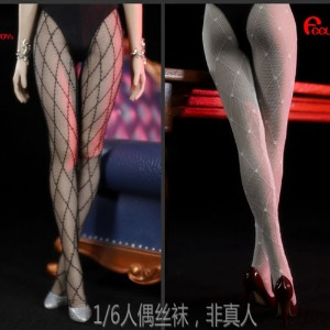 (예약) Sexy Long Grid Pattern Black Stockings / FT017