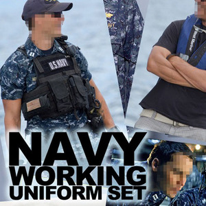 (입고) Navy working Uniform set